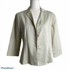 Tahari Womens Tan Blazer Jacket 10